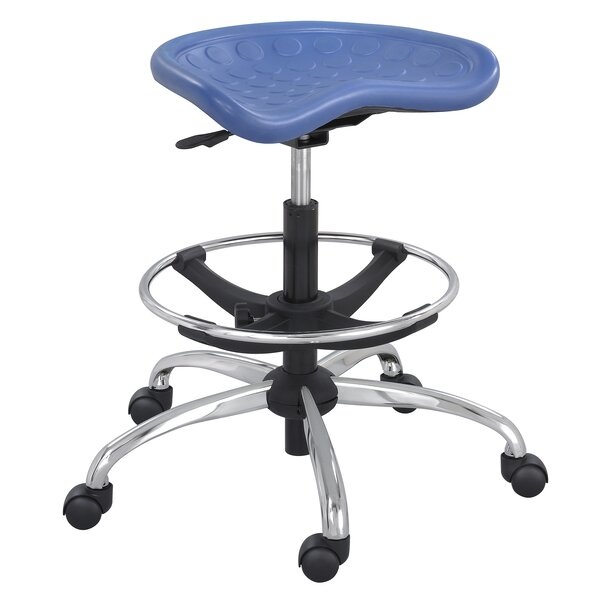 SitStar Stool with Footring and Casters by Safco Products CompanySitStar Stool with Footring and Casters by Safco Products Company