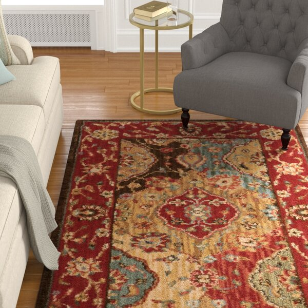 Crownover Wool Red Area Rug by Darby Home Co