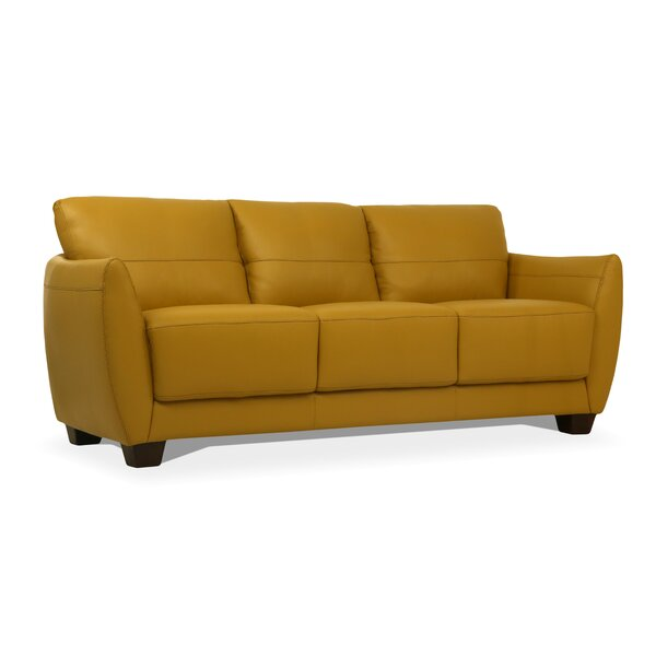 Doud Leather Sofa by Brayden Studio