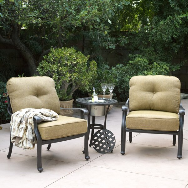 Lebanon 3 Piece Conversation Set with Cushions by Three Posts