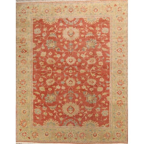 Erables Oushak Egypt Oriental Hand-Knotted Wool Beige/Orange Area Rug by Bloomsbury Market
