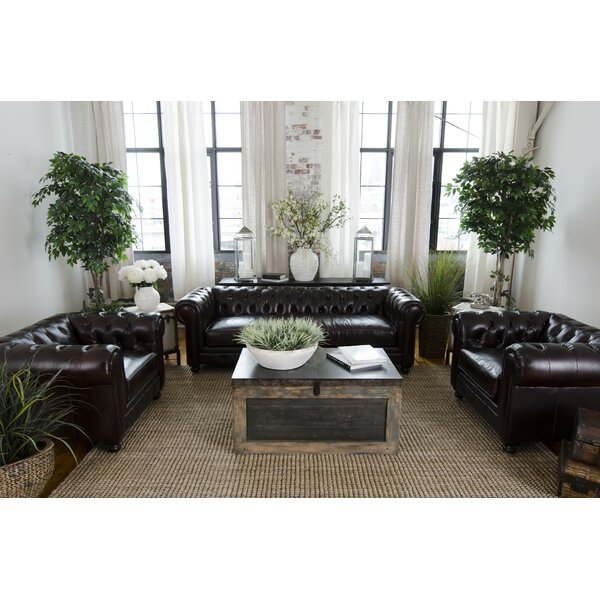 Fiske Leather Configurable Living Room Set by Darby Home Co
