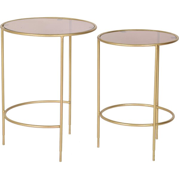 Hednesford 2 Piece Nesting Tables By Everly Quinn