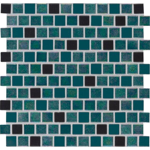 Caribbean Mermaid 1 x 1 Glass Mosaic Tile in Green by MSI