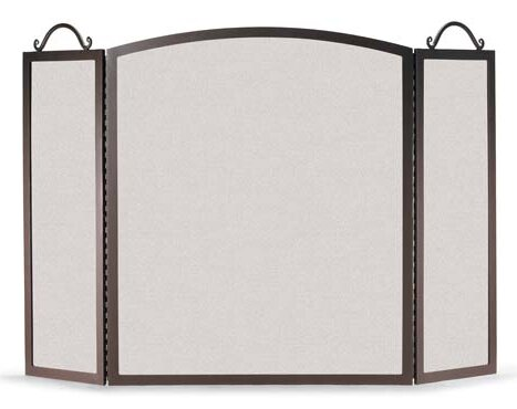3 Panel Steel Fireplace Screen By Pilgrim Hearth