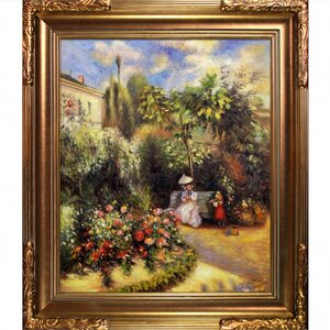 'The Garden at Pontoise' by Camille Pissarro Framed Painting Print by Fleur De Lis Living