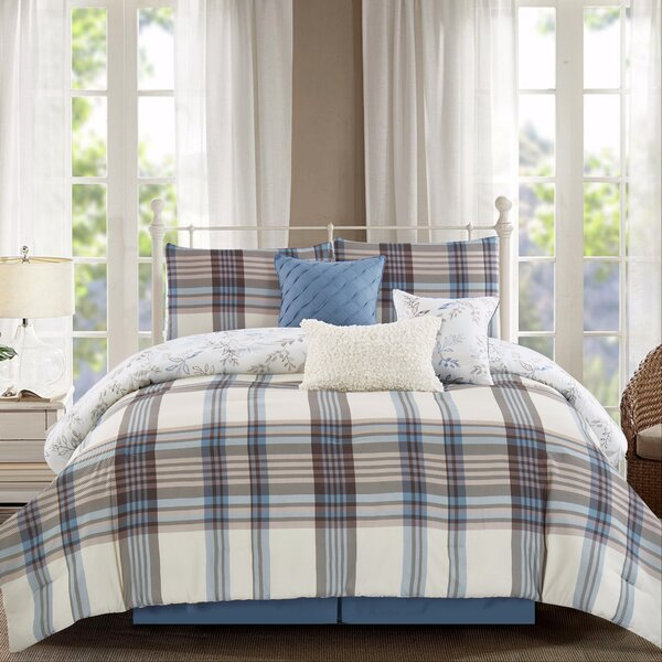 Shellie 7 Piece Reversible Comforter Set by August Grove