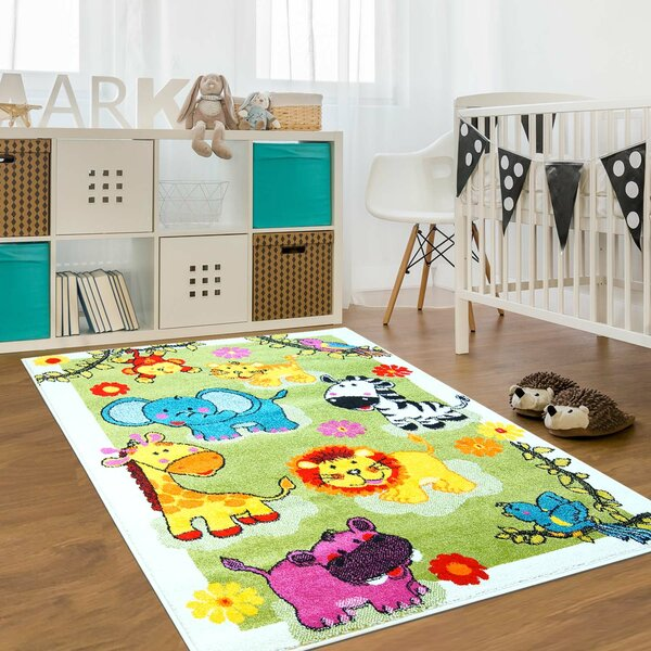 Jodie Kids Animal Green Area Rug by Zoomie Kids