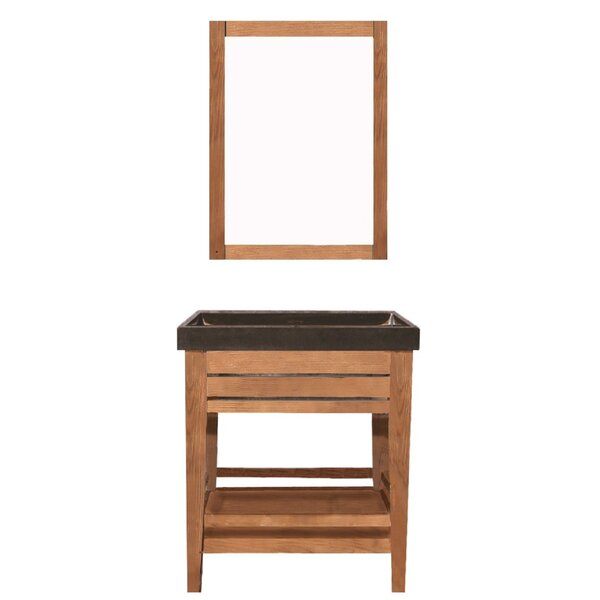 Madalyn 25 Single Bathroom Vanity Set with Mirror by Union Rustic