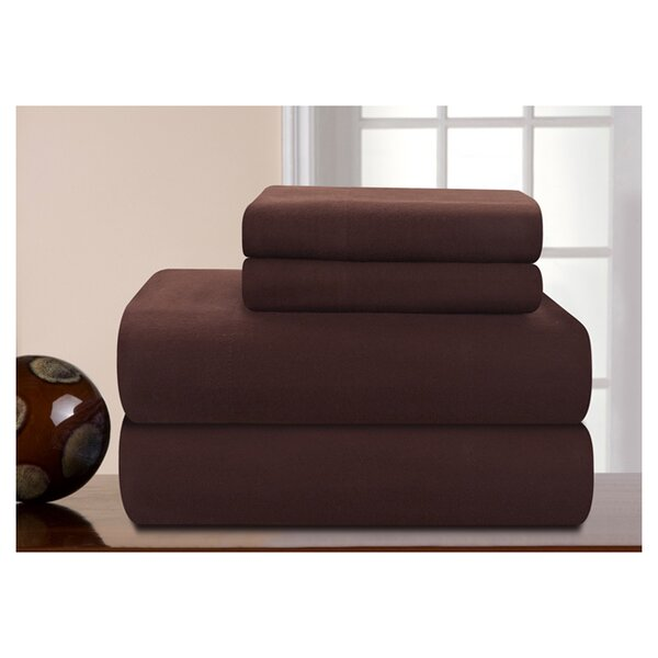 Medaryville Heavy Weight Flannel Solid Sheet Set by Charlton Home