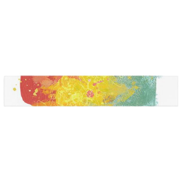 Oriana Cordero Medley Paint Table Runner by East Urban Home