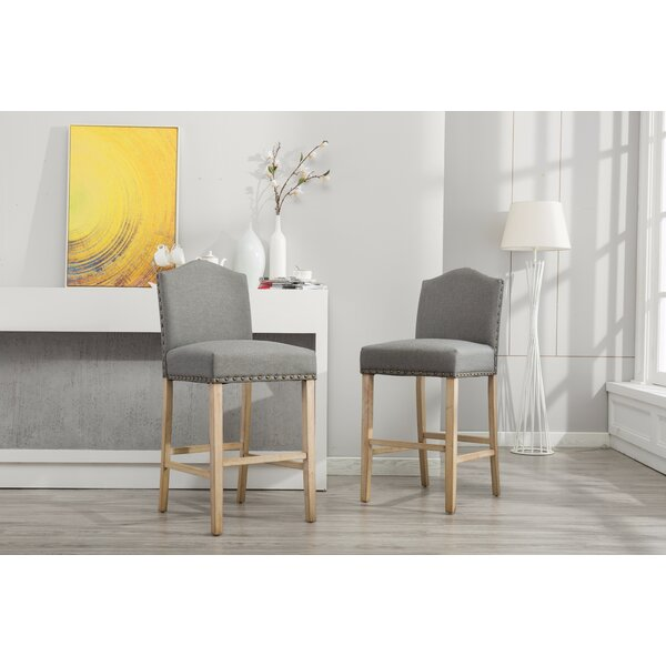 Clarrie 30.25 Bar Stool (Set of 2) by Red Barrel Studio