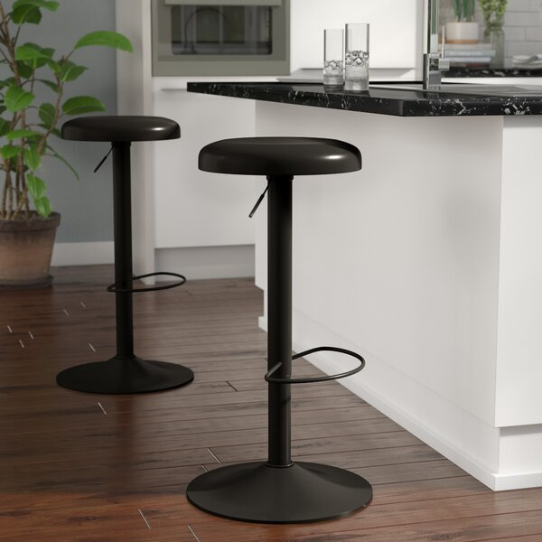 Woodfin Iron Adjustable Height Bar Stool by Ebern Designs