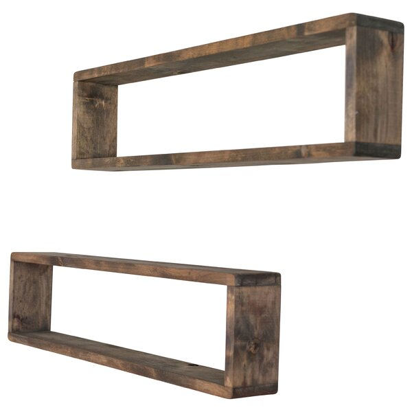 Perdomo Stackable Long Box Wall Shelf (Set of 2) b