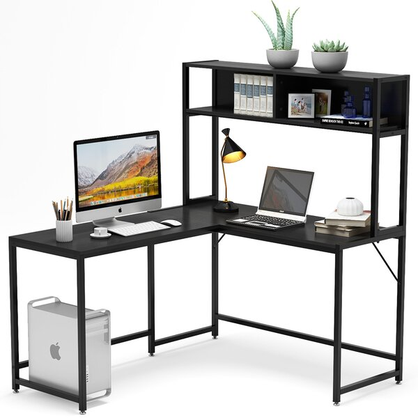 Dorcas L-Shape Desk with Hutch