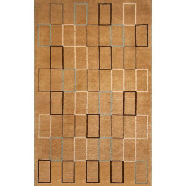 Tawney Hand-Knotted Brown/Beige Area Rug by Brayden Studio