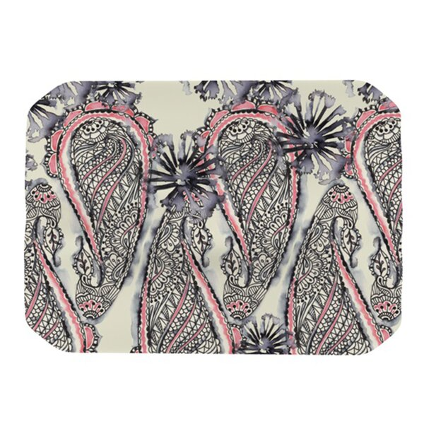 Inky Paisley Bloom Placemat by KESS InHouse