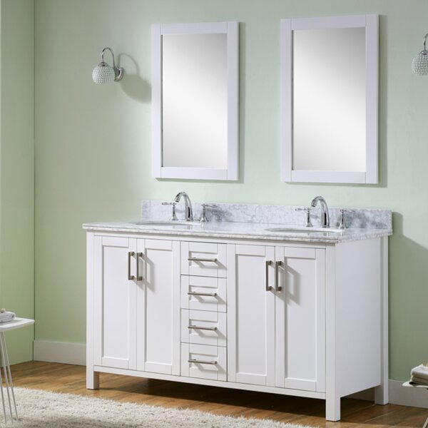 Hodgeman 60 Double Vanity Set with Mirror by Latitude Run