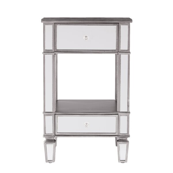 Netherby Mirrored End Table by House of Hampton