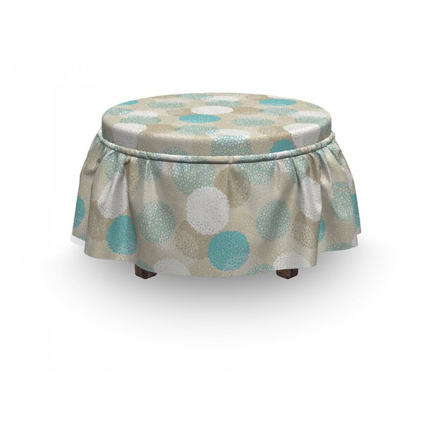 Dots And Circle Motifs Ottoman Slipcover (Set Of 2) By East Urban Home
