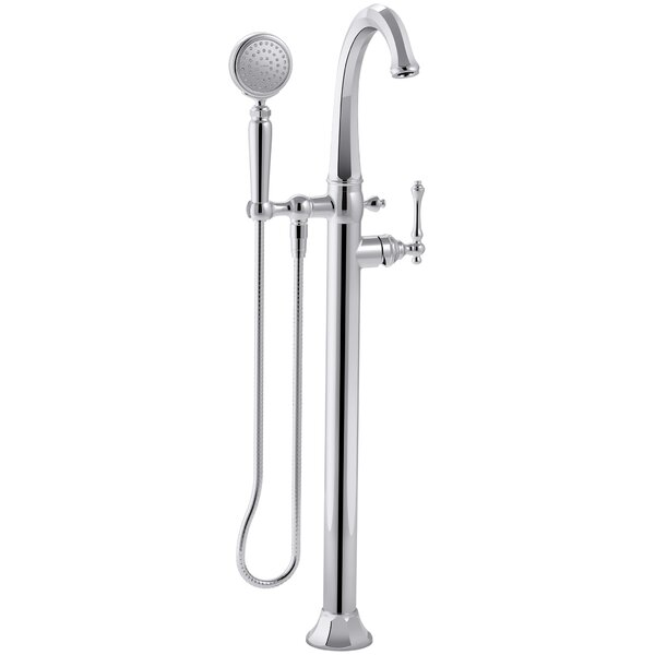 Kelston Floor Mount Bath Filler with Hand Shower b