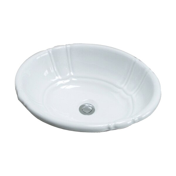 Lisbon Vitreous China Oval Drop-In Bathroom Sink with Overflow by Barclay
