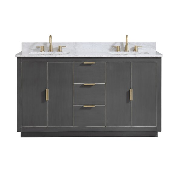 Finck 60 Double Bathroom Vanity Set by Everly Quinn