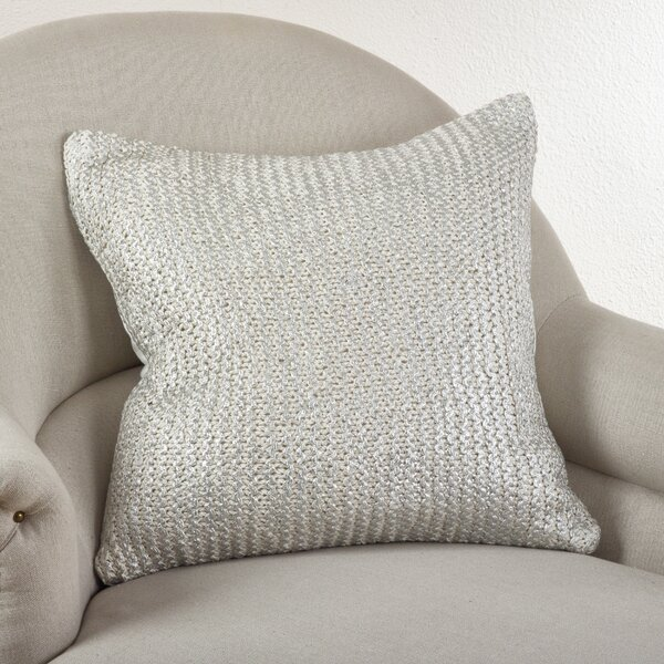 Hiran Knitted Cotton Throw Pillow by Willa Arlo Interiors