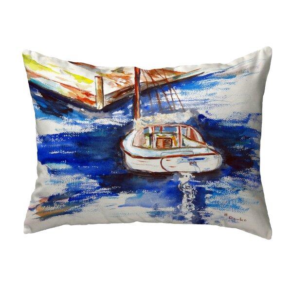 Elsie Sailboat & Dock Non Corded Indoor/Outdoor Lumbar Pillow