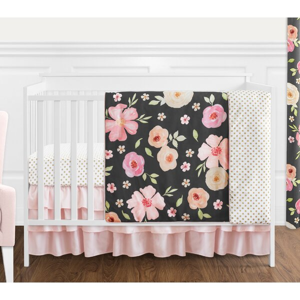 Watercolor Floral 4 Piece Crib Bedding Set by Sweet Jojo Designs