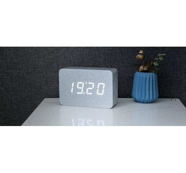 Gingko Digital Brick Desktop Clock By Brayden Studio.