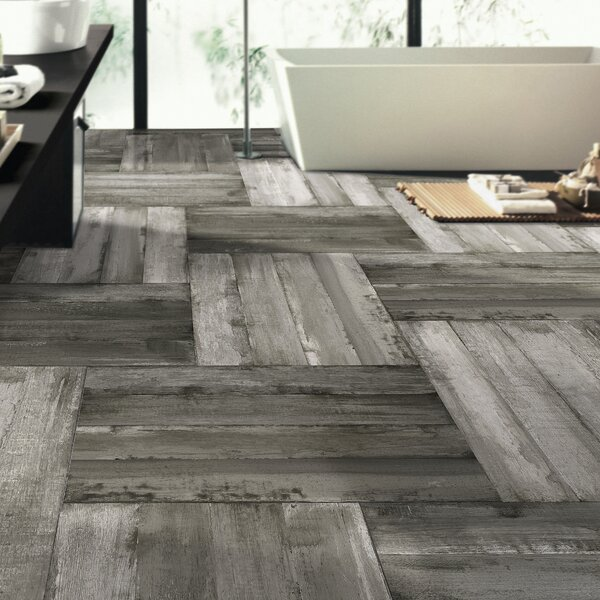 Timber Glazed Porcelain Wood Look Tile in Gray 6x36