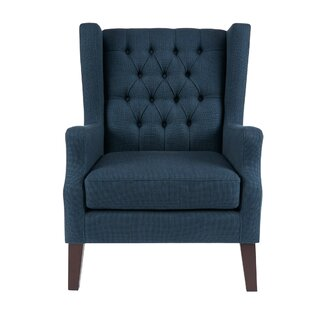 Allis Wingback Chair ByThree Posts