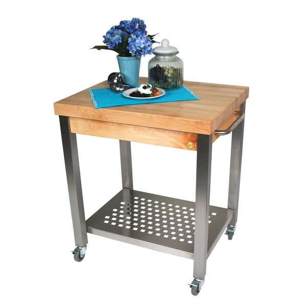 Fresh Cucina Americana Kitchen Cart With Wood Top By John Boos Top Reviews