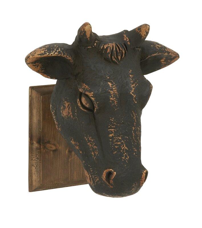 Hendrix Wood Cow Head Wall D 233 Cor Amp Reviews Joss Amp Main