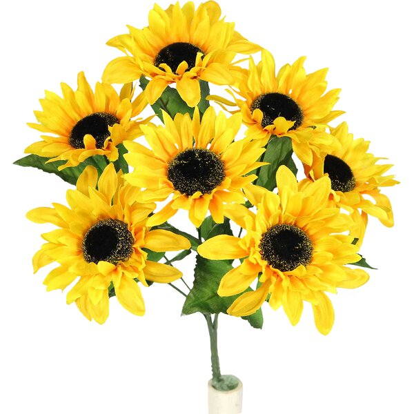 Faux Sunflower Stem Full Bloom by Admired by Nature
