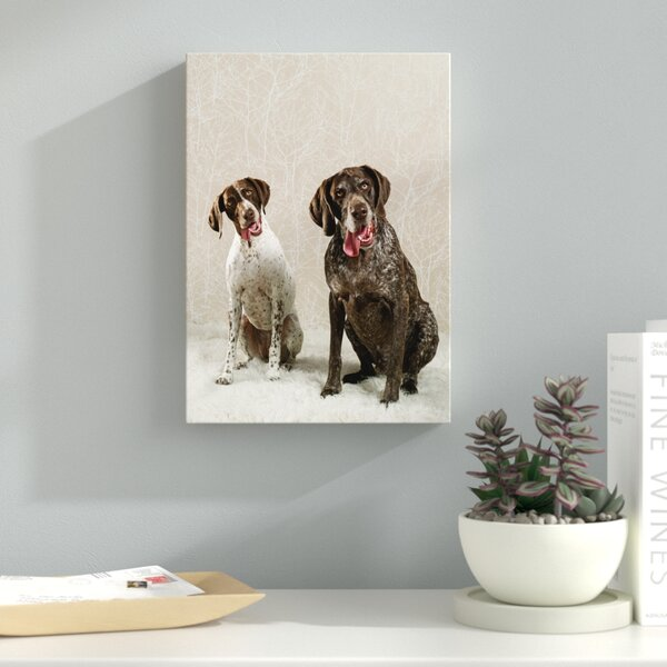 Dog Duo Photographic Print on Wrapped Canvas by Ebern Designs