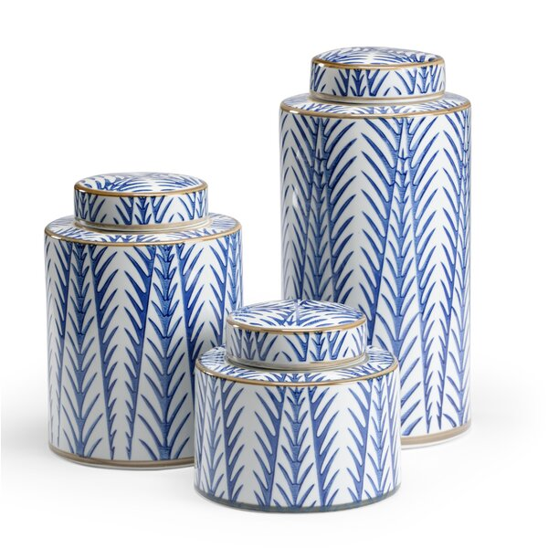 Fronds 3 Piece Kitchen Canister Set