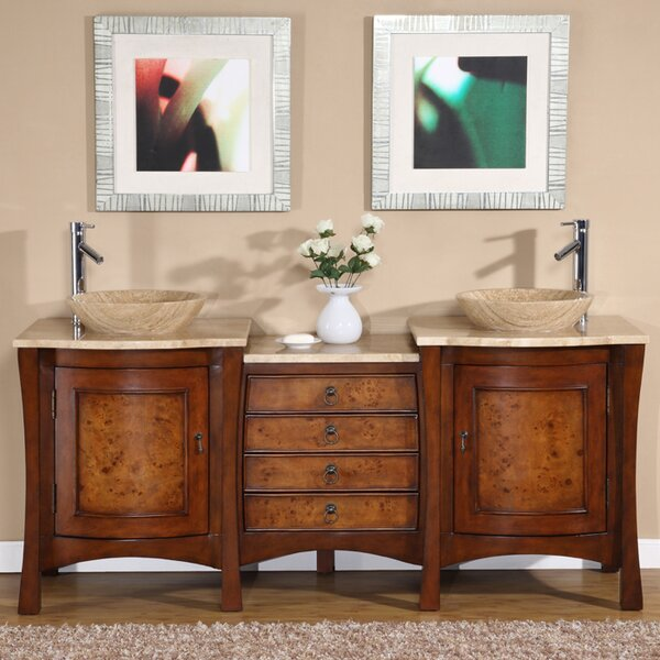 Leaman 72 Double Bathroom Vanity Set by World Menagerie