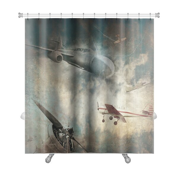 Aircraft Aviation Grunge Premium Shower Curtain by Gear New