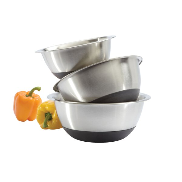Bottom 3 Piece Stainless Steel Mixing Bowl Set by Focus Foodservice