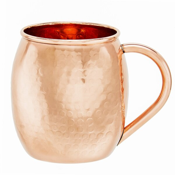 Hammered Solid Copper 16 oz. Moscow Mule Mug (Set of 2) by Old Dutch International