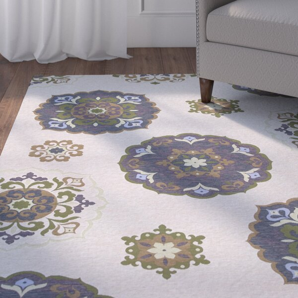 Addieville Natural Mosaic Area Rug by Charlton Home