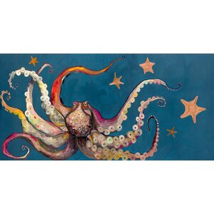 'Octopus and Starfish' Painting Print on Canvas by Viv + Rae