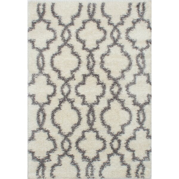 Hedley Cream/Dark Gray Area Rug by Rosdorf Park