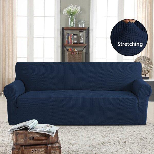 Stretch Box Cushion Sofa by Symple Stuff