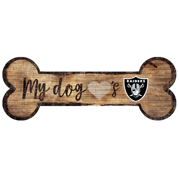 NFL Dog Bone Sign Wall Décor by Fan Creations