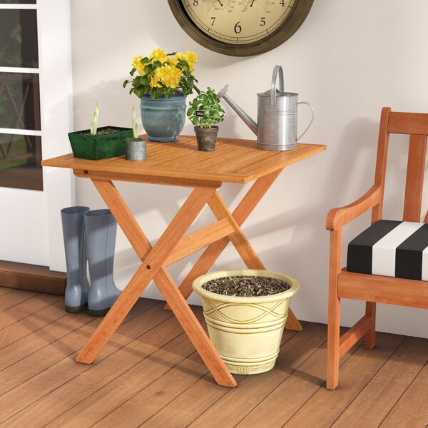 Cadsden Solid Wood Bistro Table by Three Posts