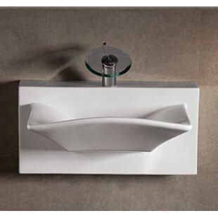 Best Deals Isabella Ceramic 28 Wall Mount Bathroom Sink ByWhitehaus Collection