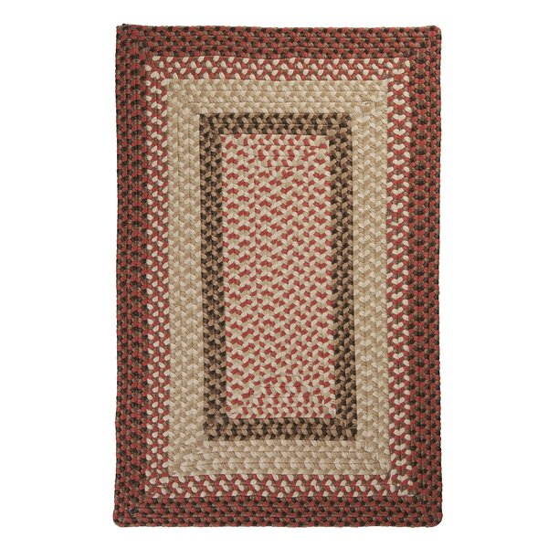 Tiburon Rusted Rose Braided Indoor/Outdoor Area Rug by Colonial Mills